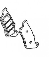 06455MALG02 Honda Front Brake Pad Set