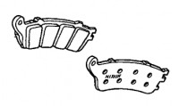 Genuine Honda Brake Pad Set 06435MBLD03