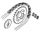Genuine Honda Chain & Sprocket Kit 06406GN8740