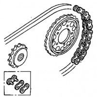 0640LMZ2406 Honda Chain And Sprocket Kit CBR1000F